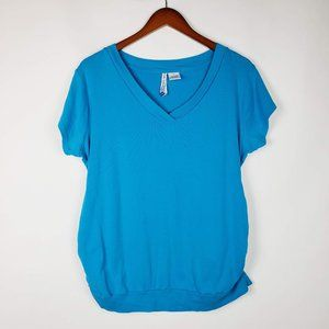 Planet Motherhood Short Sleeve Basic Blue Sz 2X